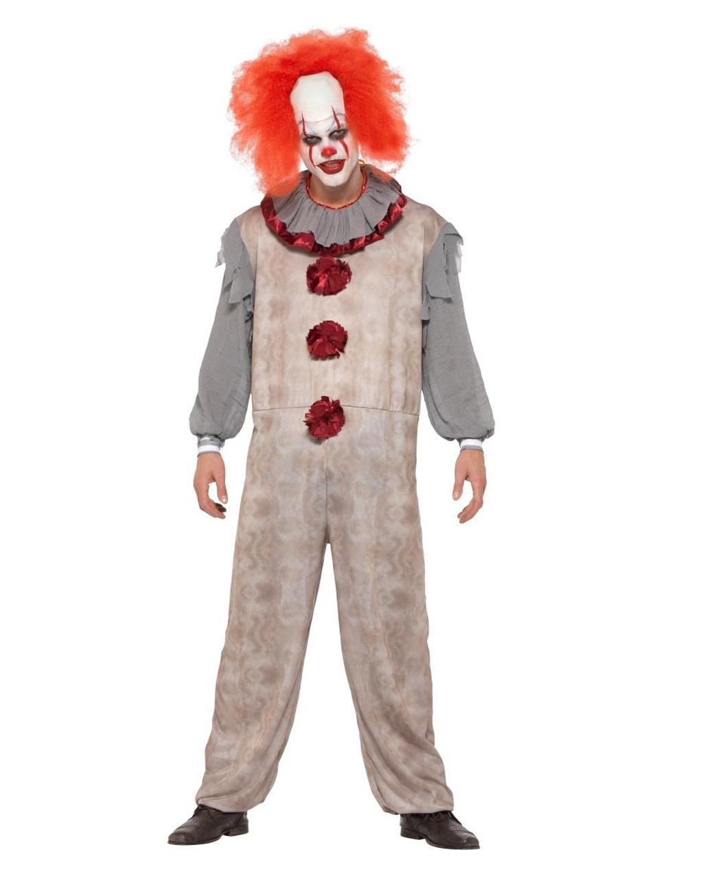 Halloween Clown.Vintage Horror Clown Costume