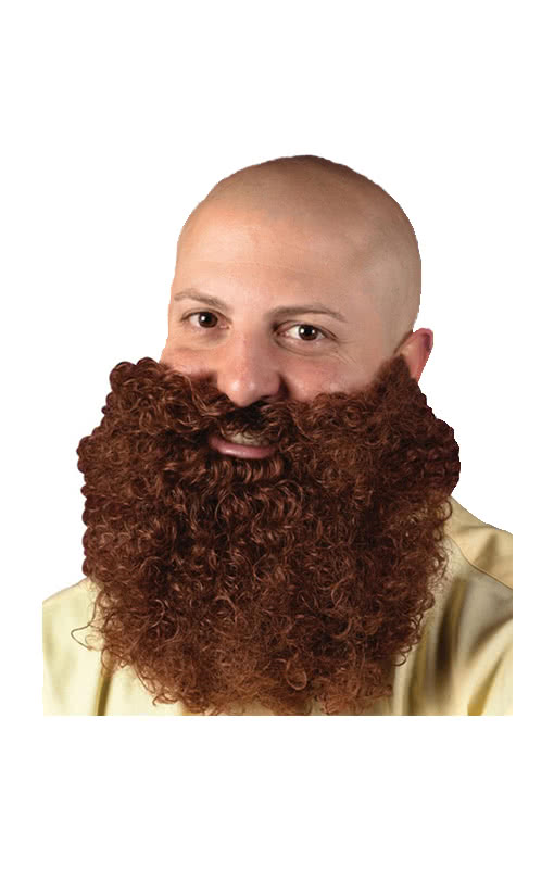 Curly Full Beard Brown Brown Facial Hair For All Full Beard Fans Karneval Universe