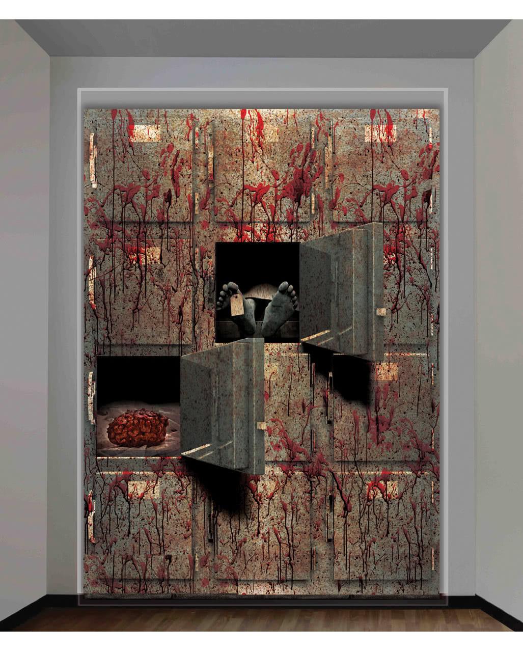 wandfolie leichenschauhaus f r halloween grusel deko karneval universe. Black Bedroom Furniture Sets. Home Design Ideas