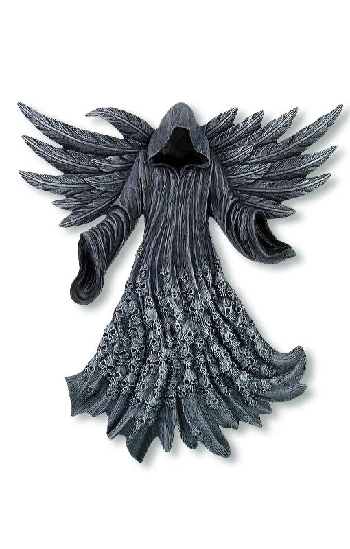 wandrelief gesichtsloser todesengel gothic deko karneval universe. Black Bedroom Furniture Sets. Home Design Ideas