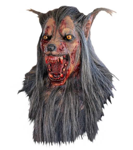 wolf maske braun werwolf maske w lfe wolfsmaske karneval. Black Bedroom Furniture Sets. Home Design Ideas