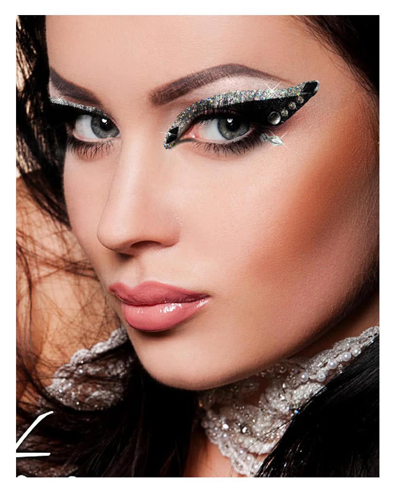 xotic eyes glitter schwarz silber glitter make up augen. Black Bedroom Furniture Sets. Home Design Ideas