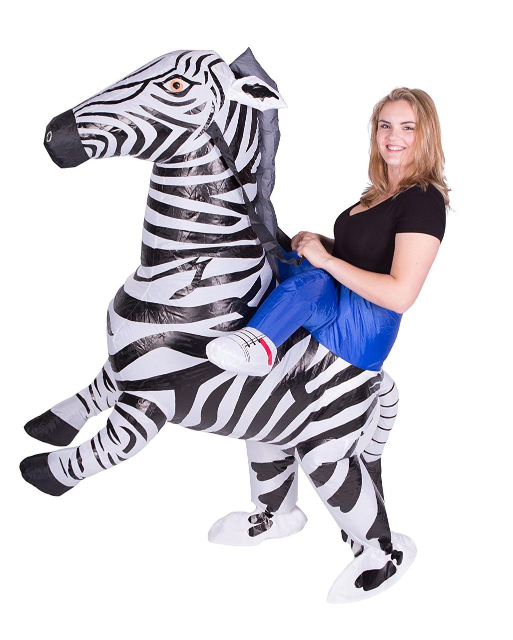 zebra kost m zum aufblasen f r erwachsene karneval universe. Black Bedroom Furniture Sets. Home Design Ideas