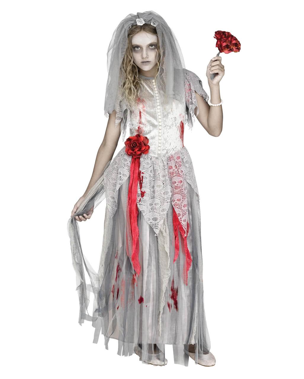kinderkost m zombie braut f r halloween karneval universe. Black Bedroom Furniture Sets. Home Design Ideas