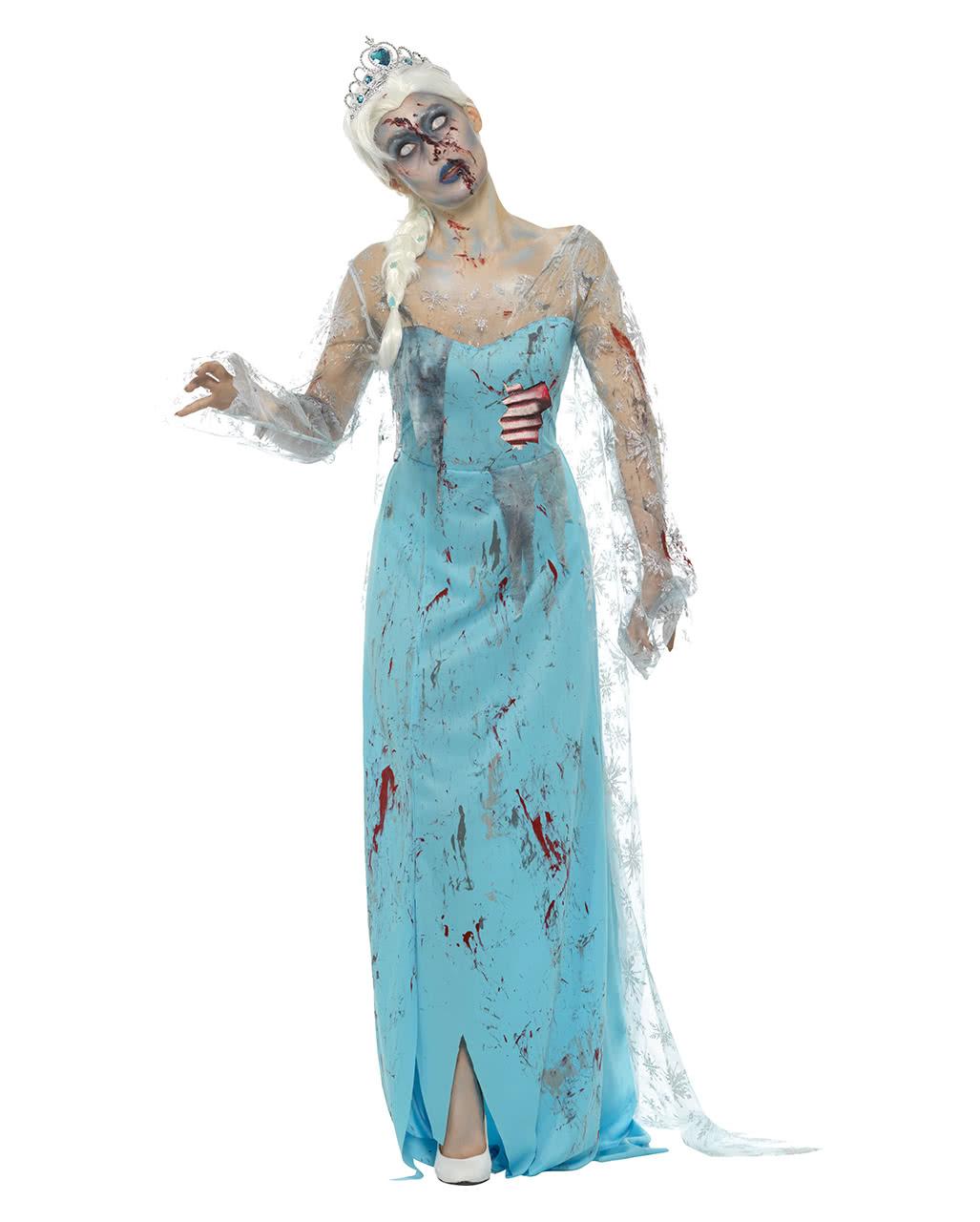 zombie eisprinzessin kost m f r halloween kaufen karneval universe. Black Bedroom Furniture Sets. Home Design Ideas