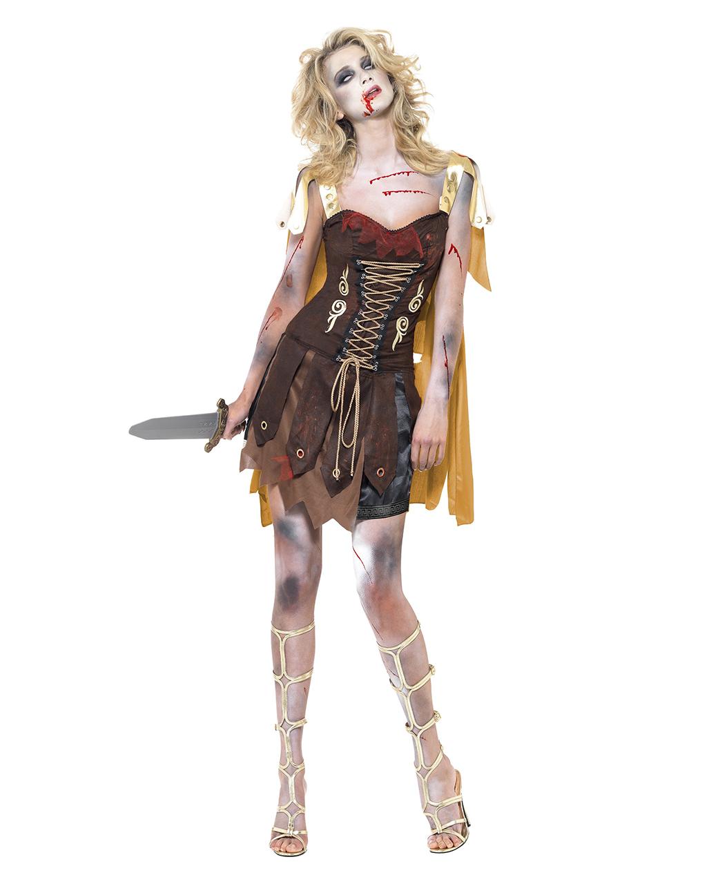 gladiator zombie kost m f r damen faschings verkleidung. Black Bedroom Furniture Sets. Home Design Ideas
