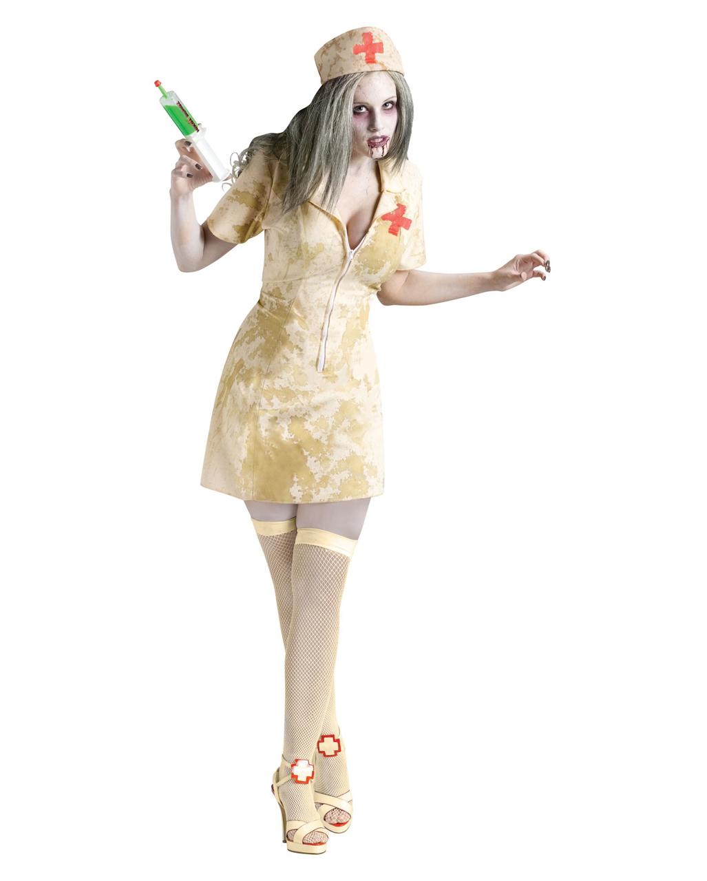 Zombie Krankenschwester Sm Als Kostum Fur Halloween Zombie Walk