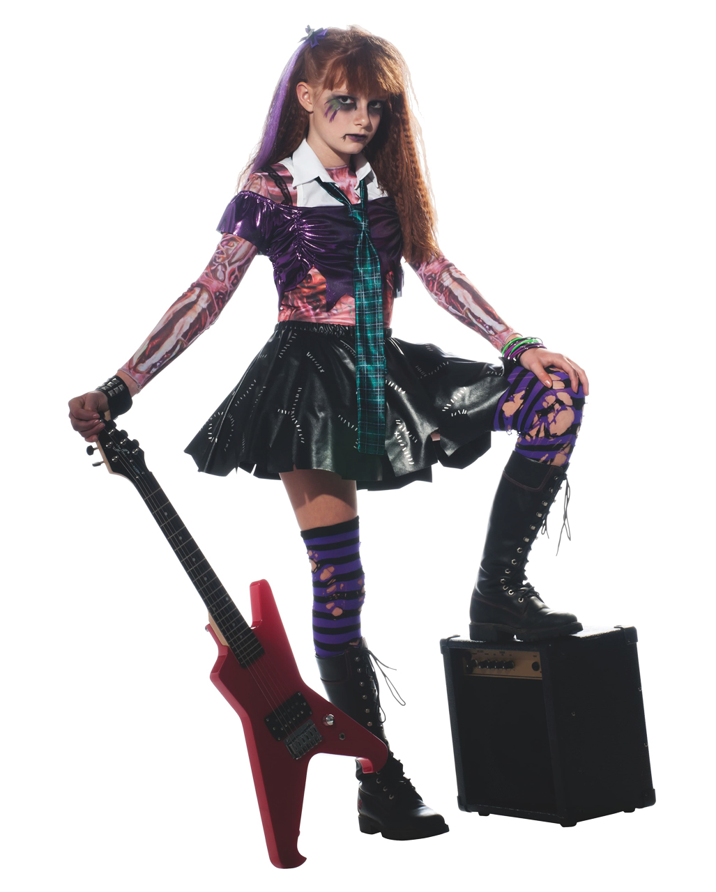 zombie punk rocker kinder kost m zombie kost m. Black Bedroom Furniture Sets. Home Design Ideas