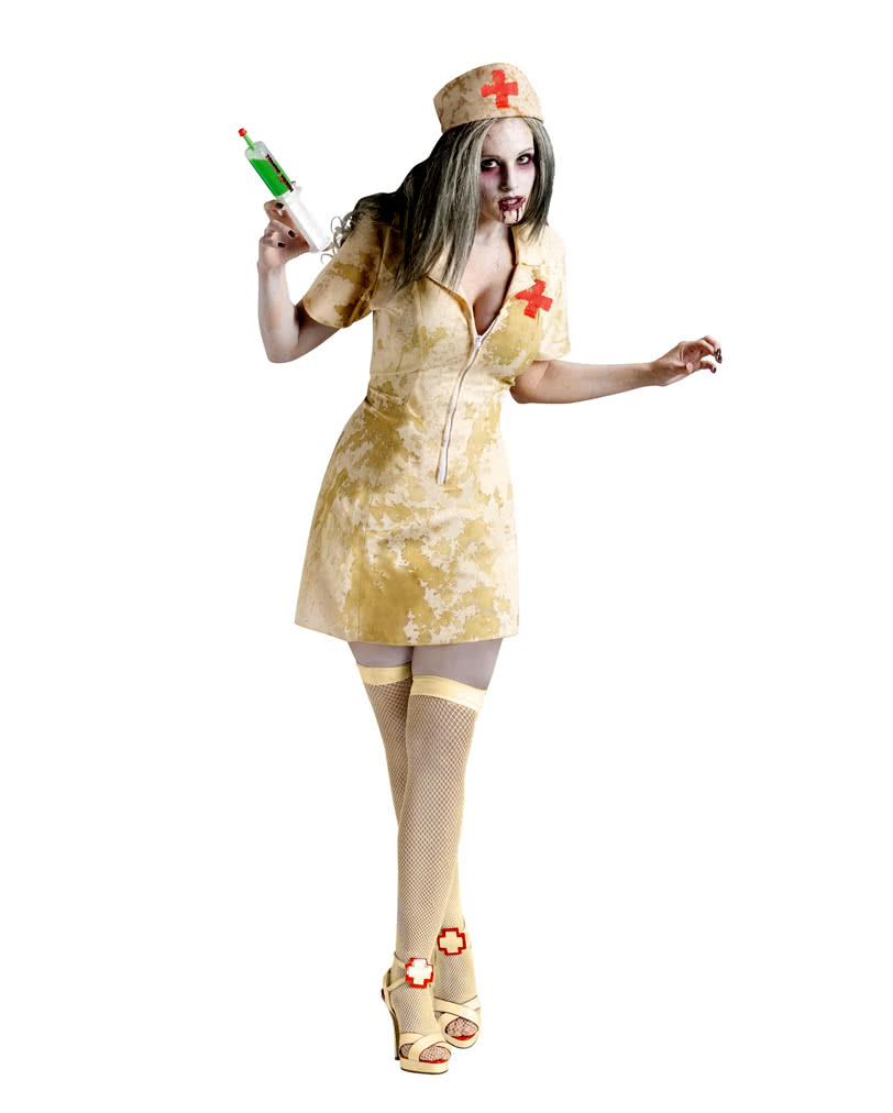 zombie krankenschwester sm als kost m f r halloween zombie walk karneval universe. Black Bedroom Furniture Sets. Home Design Ideas