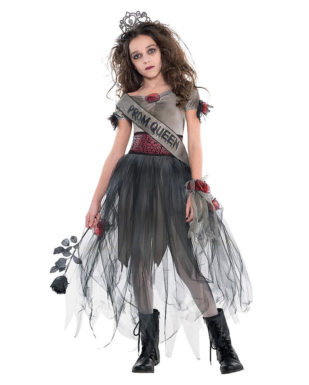 Mädchen Zombie Queen Halloween Kostüm Teenager Zombie Ball Party Outfit