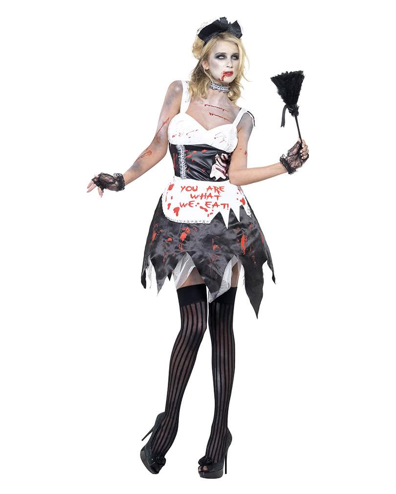 zombie dienstm dchen kost m xs sexy kost m f r den zombie walk karneval universe. Black Bedroom Furniture Sets. Home Design Ideas
