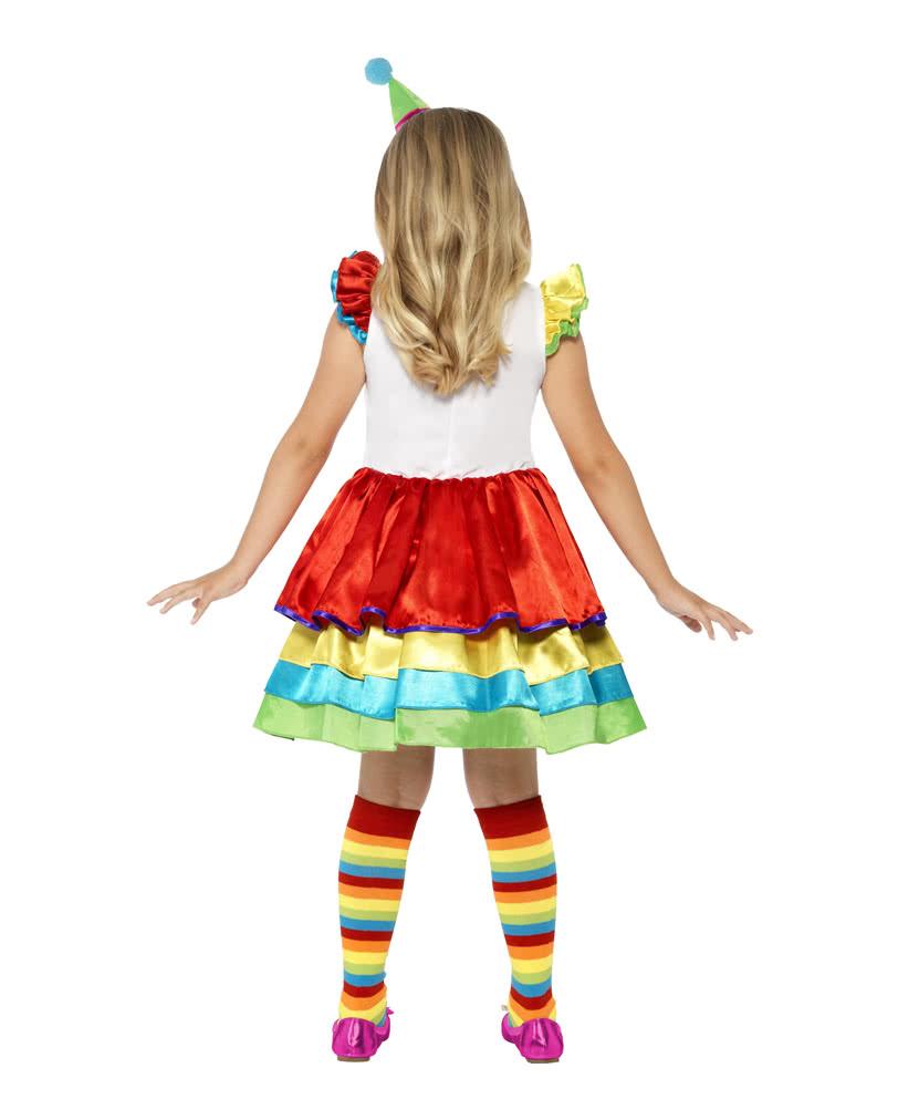 Süßes Clown Girl Mädchenkostüm für den Kinderfaschingsball