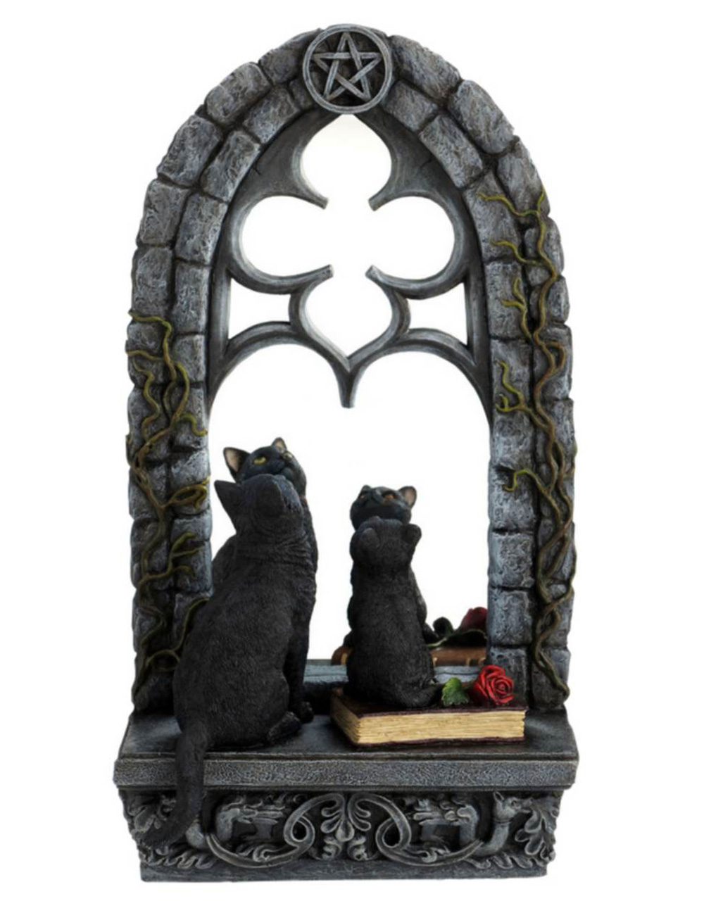 gothic deko spiegel mit katzen jetzt bestellen karneval. Black Bedroom Furniture Sets. Home Design Ideas