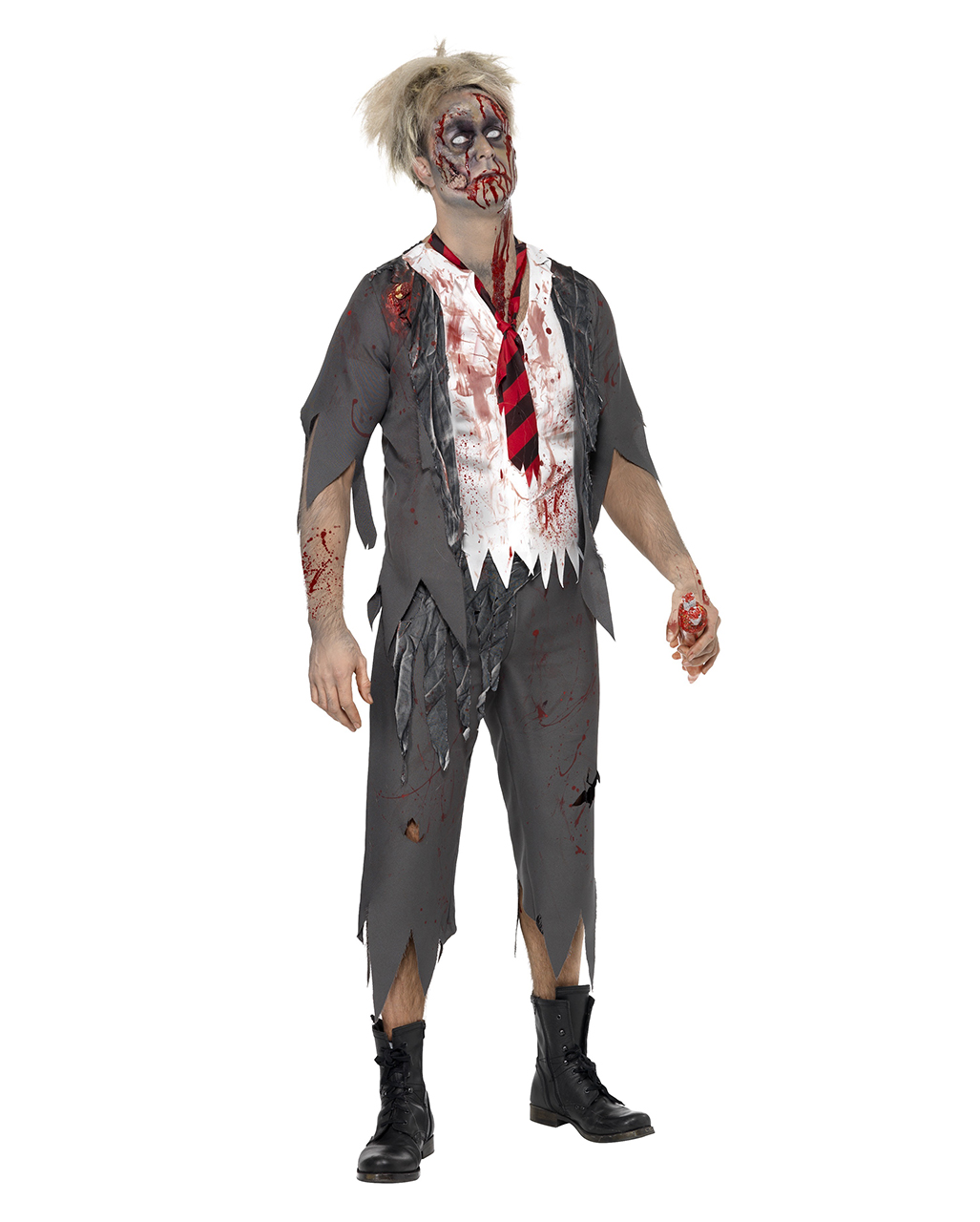 high school horror boy kost m grusel outfit f r zombie fans karneval universe. Black Bedroom Furniture Sets. Home Design Ideas