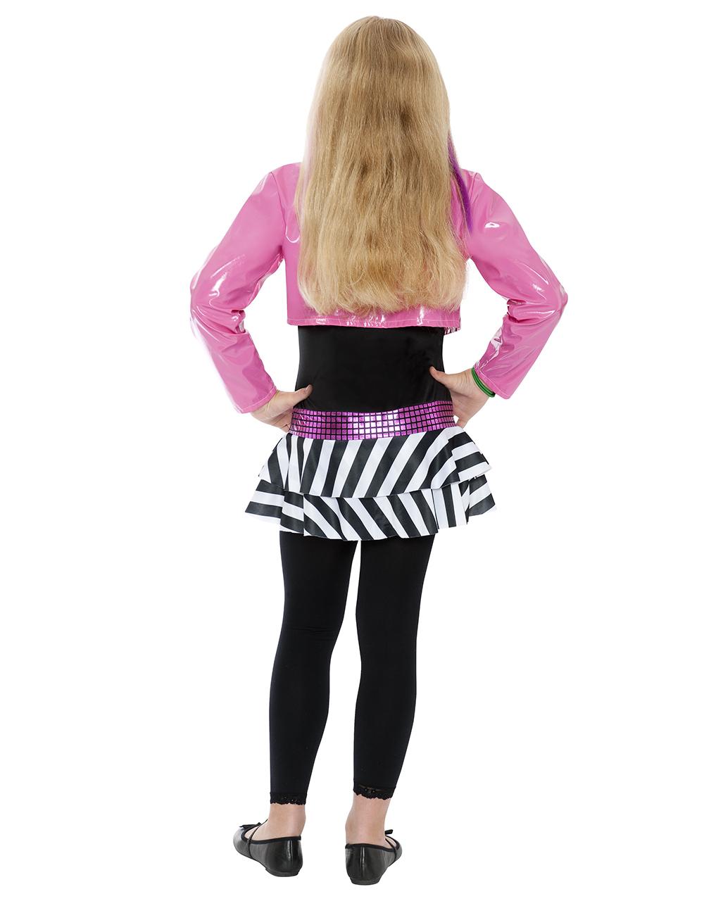 mini rockstar kost m f r m dchen kinder faschings verkleidung karneval universe. Black Bedroom Furniture Sets. Home Design Ideas