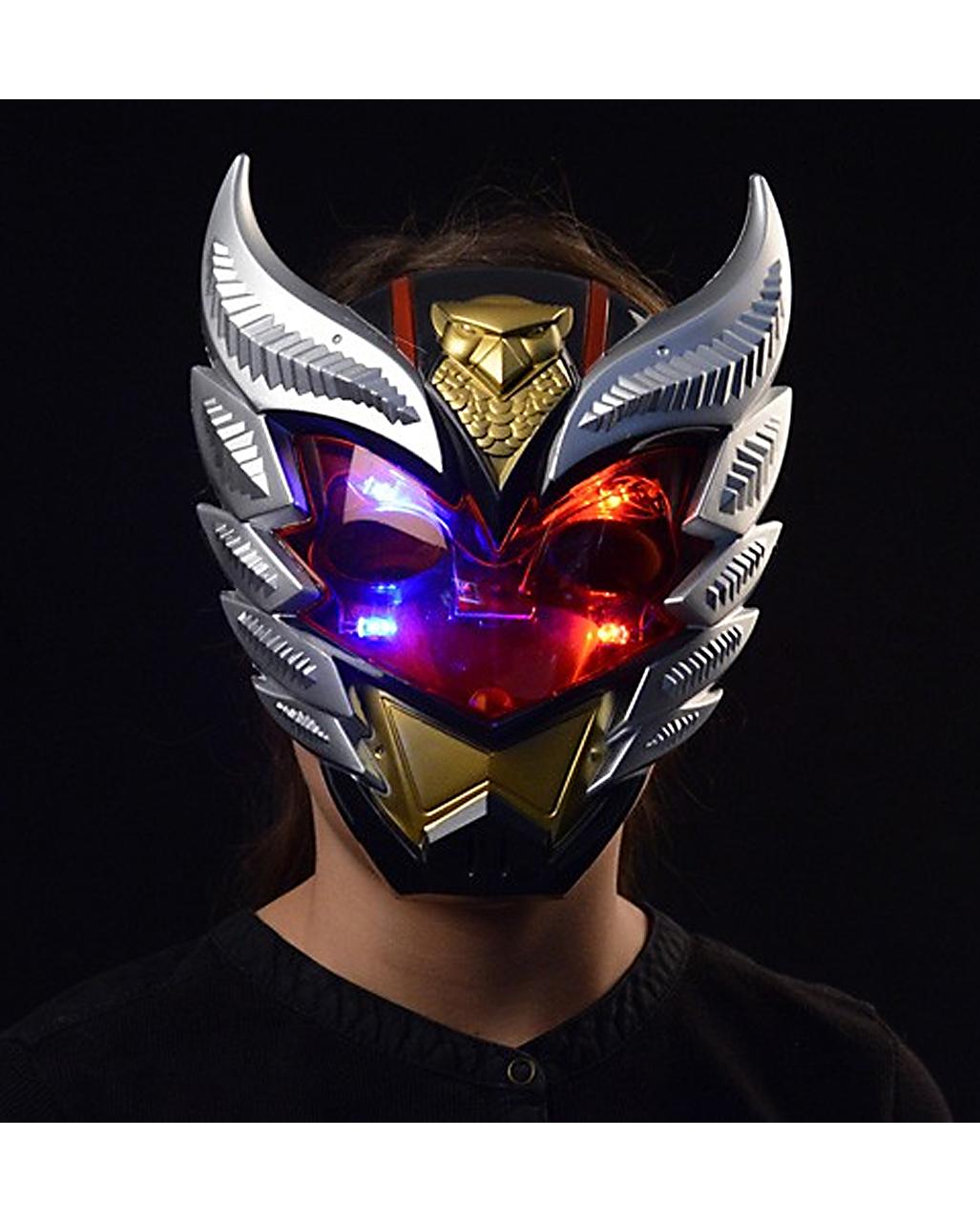 kinder maske roboter mit licht f r fasching karneval. Black Bedroom Furniture Sets. Home Design Ideas