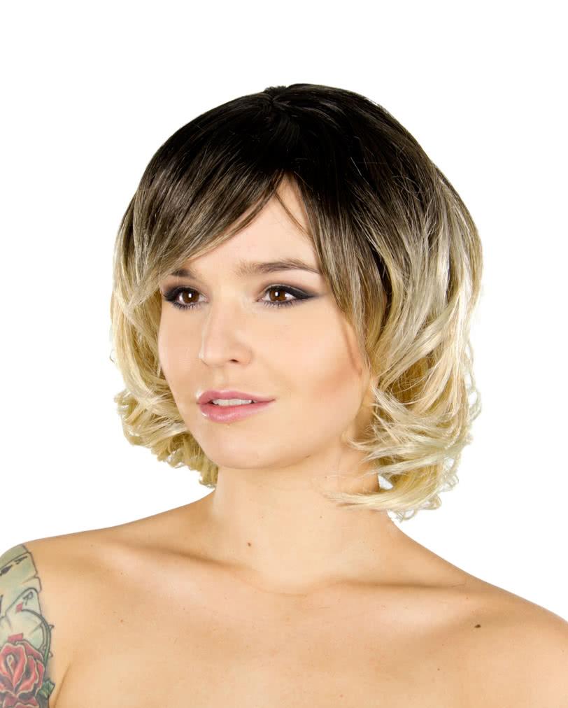 Chantel per cke braun blond lockenper cken g nstig online kaufen karneval universe - Braun blond ombre ...