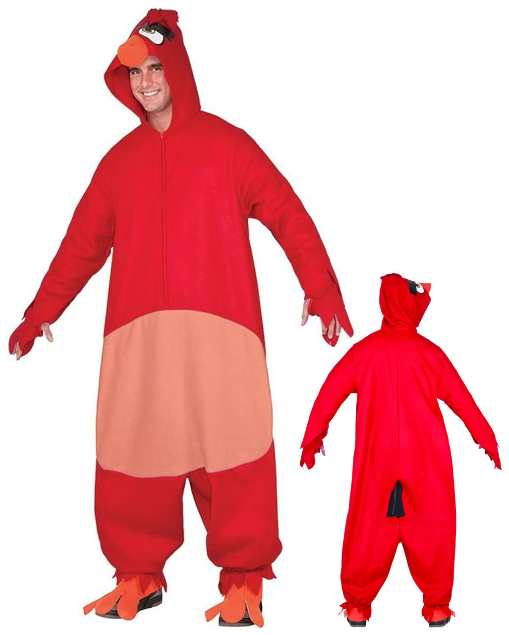 angry birds red onsie overall rot kaufen karneval universe. Black Bedroom Furniture Sets. Home Design Ideas
