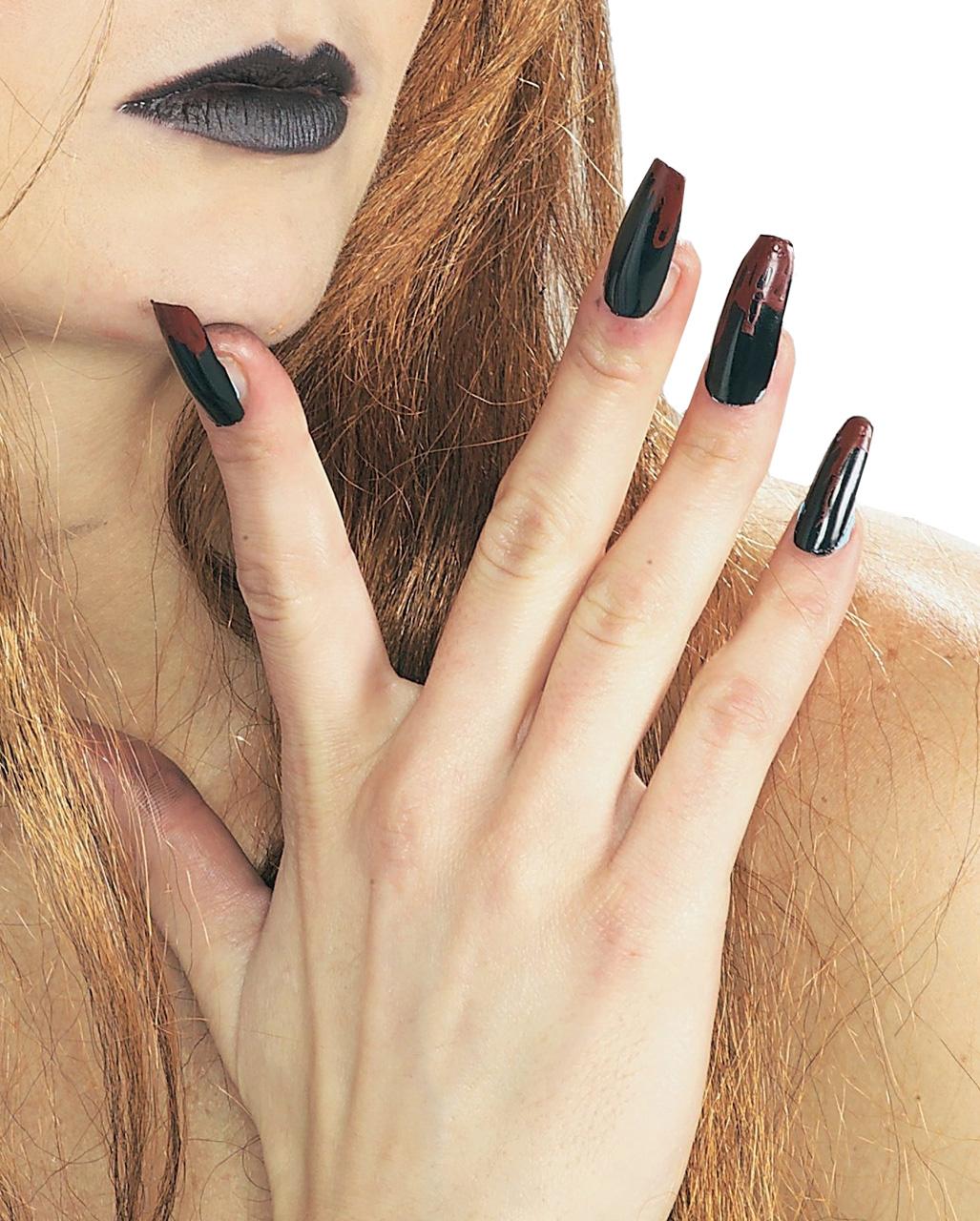 fingern gel schwarz blutig f r halloween fasching. Black Bedroom Furniture Sets. Home Design Ideas