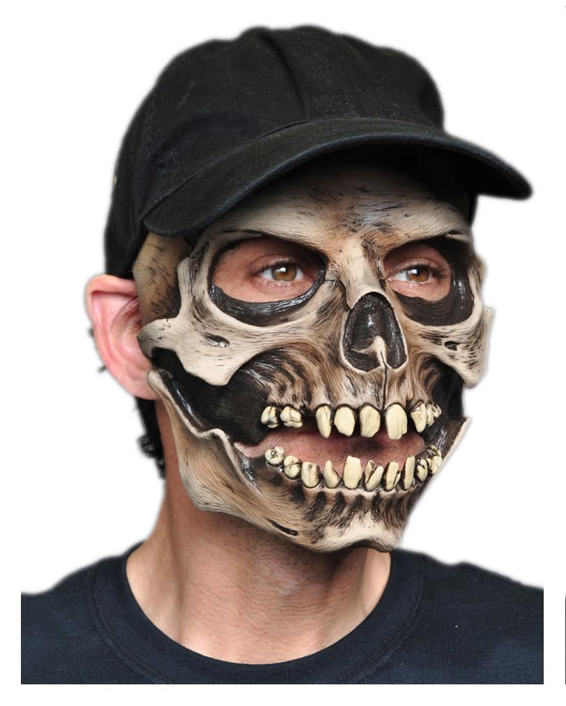 totenkopf maske mit baseball m tze f r halloween karneval universe. Black Bedroom Furniture Sets. Home Design Ideas