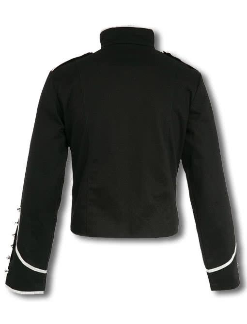 military jacke schwarz silber uniformjacke karneval. Black Bedroom Furniture Sets. Home Design Ideas