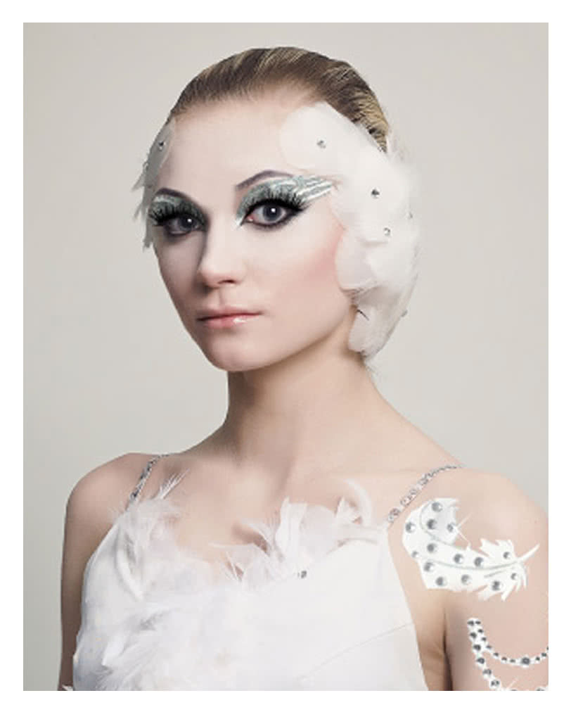 white swan make up make up zum aufkleben xotic eyes karneval universe. Black Bedroom Furniture Sets. Home Design Ideas