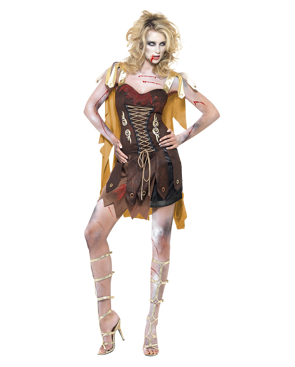 gladiator zombie kost m f r damen faschings verkleidung g nstig kaufen karneval universe. Black Bedroom Furniture Sets. Home Design Ideas