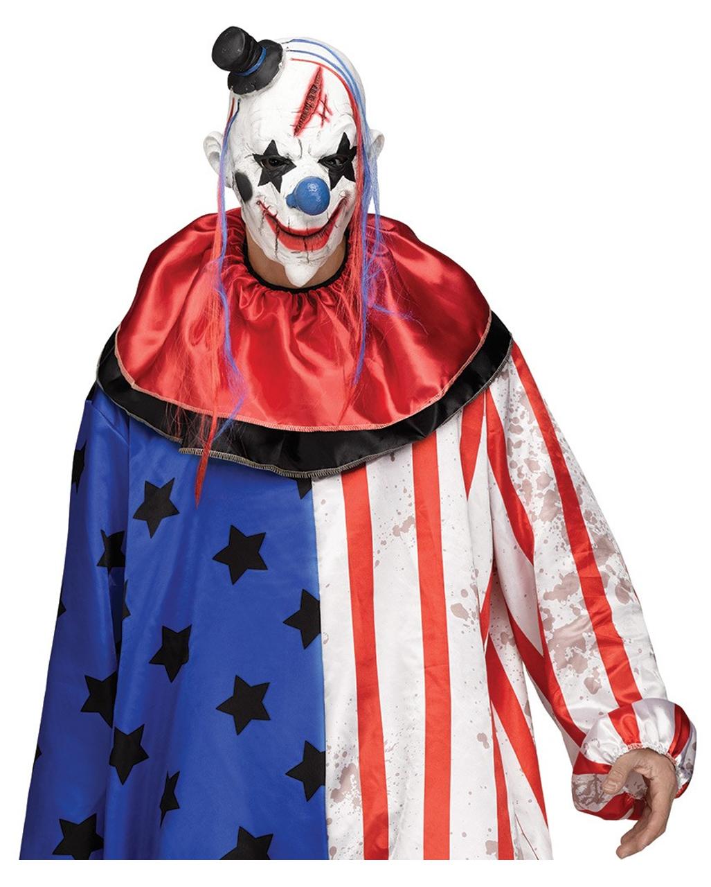 Halloween Kostume Amerika.Amerika Clown Kostum Mit Maske