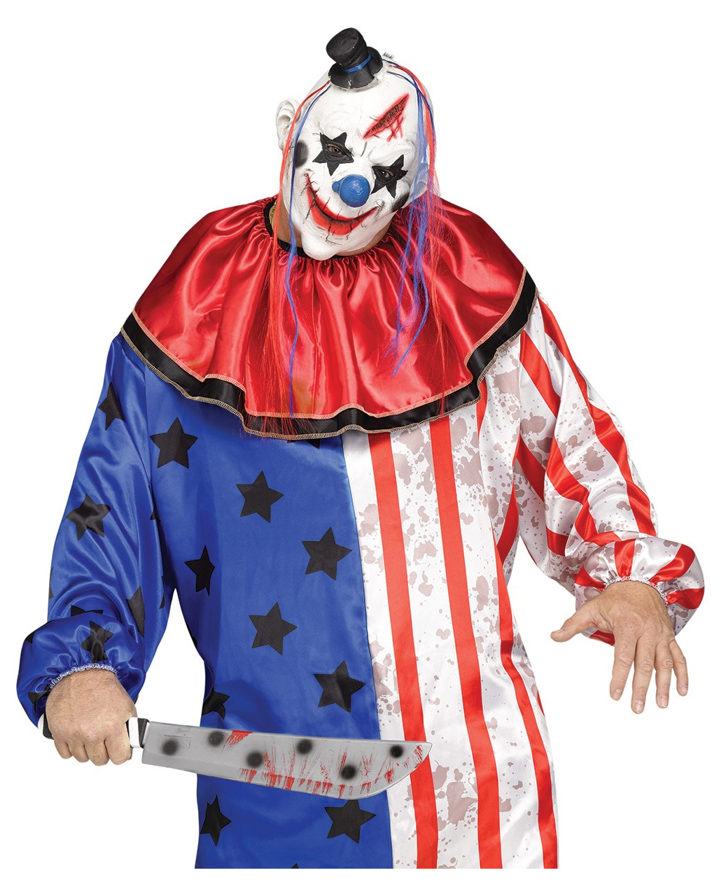Halloween Kostume Amerika.Amerika Clown Kostum Mit Maske Plus Size