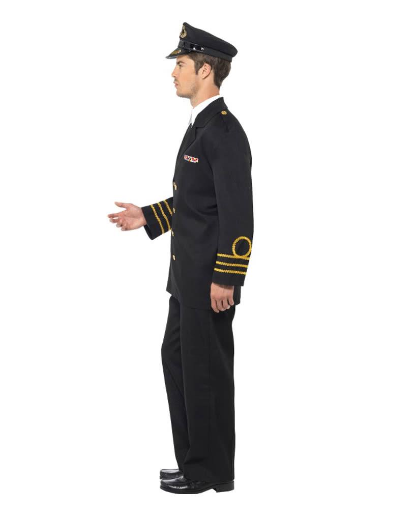 us marineoffizier herren kost m schwarze milit runiform f r herren karneval universe. Black Bedroom Furniture Sets. Home Design Ideas