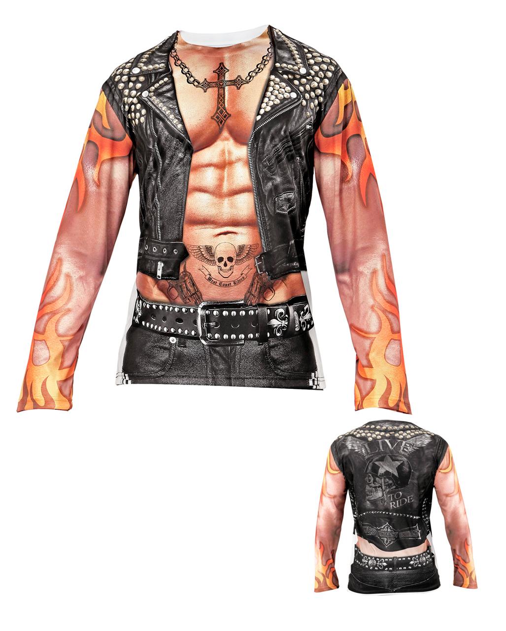 rocker shirt longsleeve f r fasching kaufen karneval. Black Bedroom Furniture Sets. Home Design Ideas