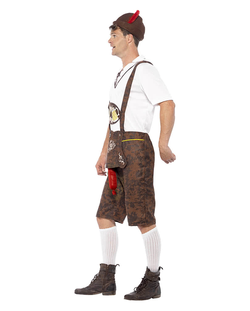 lederhosen kost m mit wurstzipfel freches trachtenkost m f r ihn karneval universe. Black Bedroom Furniture Sets. Home Design Ideas