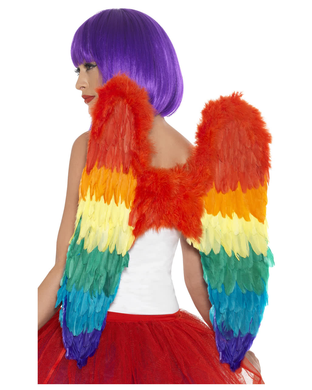 Große Rainbow Flügel als Kostümzubehör | Karneval Universe