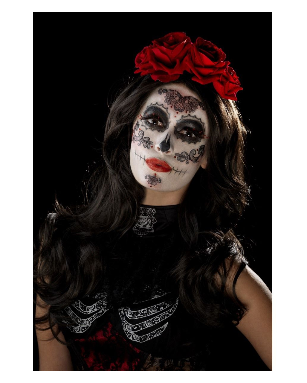 Day Of The Dead Glamour Make-Up Kit for Halloween ...